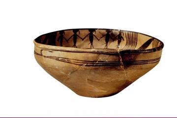从纹彩陶盆中看古人舞蹈是什么样的